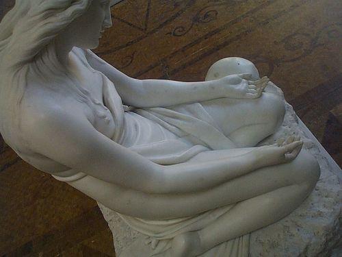 canova,marie madeleine,magdalena,pénitente,crâne,cheveux longs