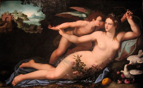 alessandro allori,venus,cupidon,amor,seduction