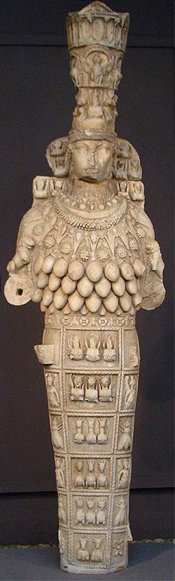 artemis,diane,ephese,statue,seins,mamelles,déesse,primitive,fécondité
