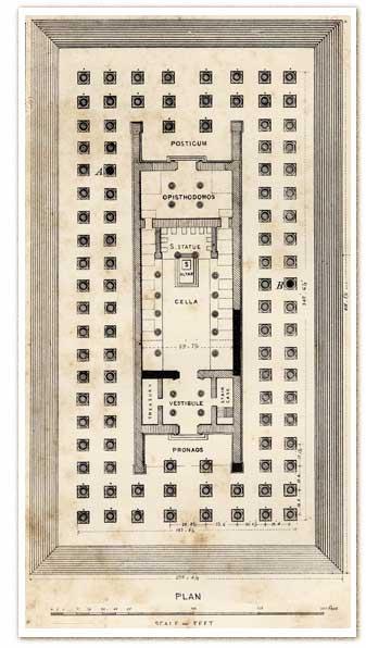 temple,artémis,diane,ephese,plan,merveille