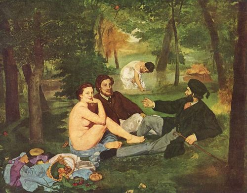Edouard,Manet,indécence,nue,habillés,déjeuner,herbe,nonchalance,orsay