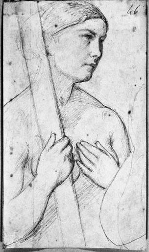 ingres,sainte hélène,nue,naked saint,dessin,croquis