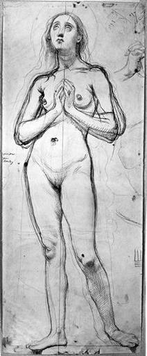ingres,sainte rosalie,naked saint rosalie,croquis,dessin