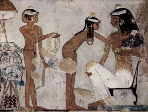 servante,tombe,djeserkareseneb,egypte,nue