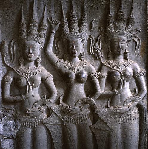apsara,devata,angkor,khmer,bas-relief