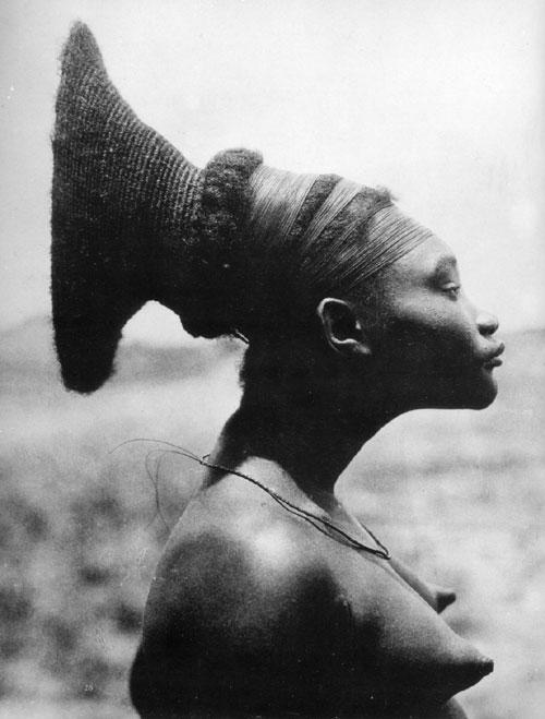 femme mangbetu,mangbetou, nobosudru, croisière noire,congo,profil