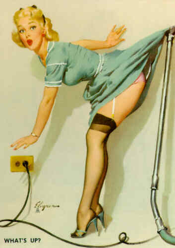 elvgren,pinup,pin-up,what's up, 1957