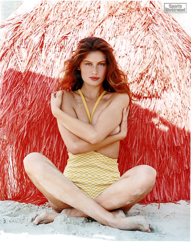 laetitia casta,russell james,sports illustrated,monokini,topless,gernreich