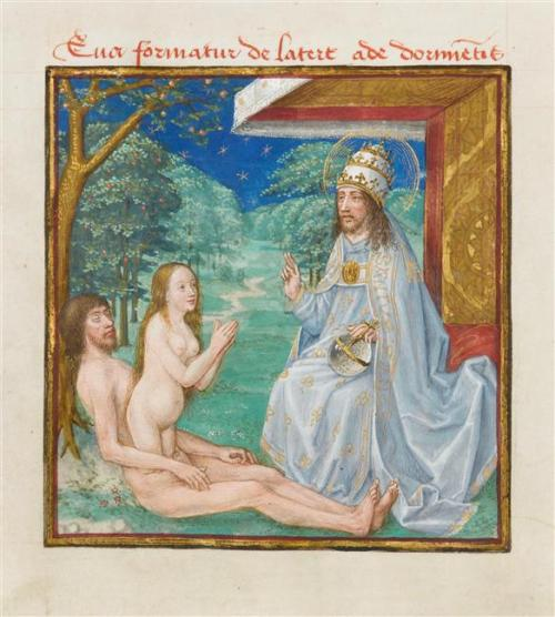 miroir humaine savation, naissance eve,conde,chantilly,rmn,enluminure