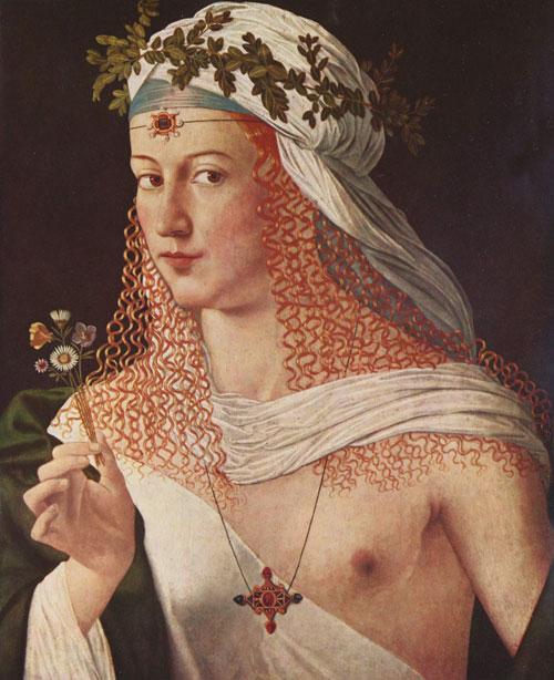 bartolomeo veneto,flora,lucrece,lucrezia borgia,courtisane,prostituée,blond vénitien