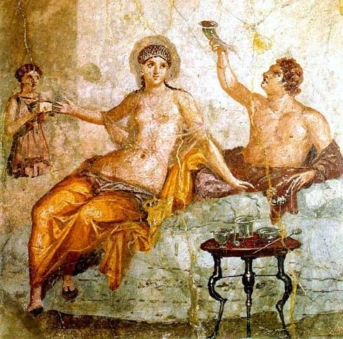 Herculanum,prostituée,stola jaune