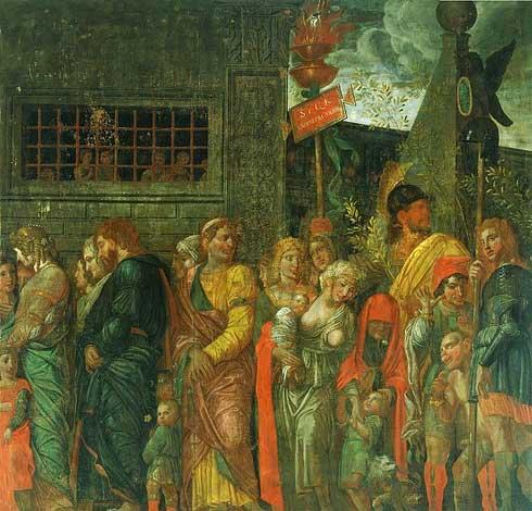 andrea mantegna,captives,triomphe de César