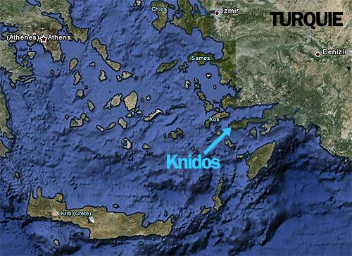 Cnide,Cnidos,Knidos,Aphrodite,Venus,Kos,carte,map