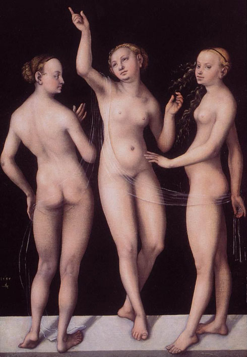 lucas cranach, 3 graces