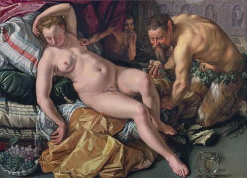 Hendrick Goltzius,Jupiter séduit Antiope déguisé en satyre,1612