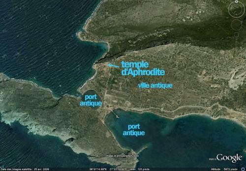 Cnide,Cnidos,Knidos,plan,temple aphrodite,venus,port,mer