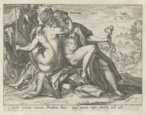 goltzius,iustitia,justitia,prudentia