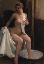 emil pap, the bather, la baigneuse