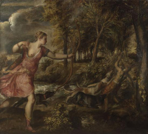 titien,tiziano,titian,la mort d'actéon,death of actaeon,acteon,national gallery