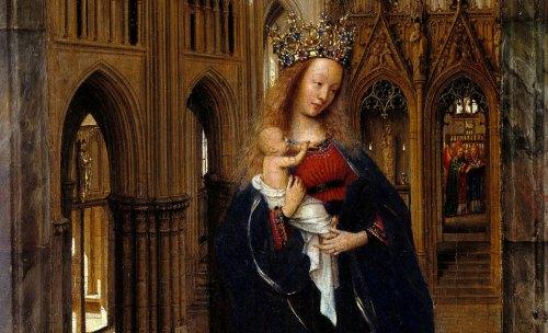 madonna in the church, van eyck, detail
