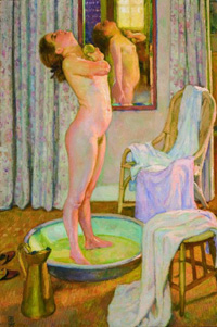 theo van rysselberghe,1925,jeune fille au tub,coll part