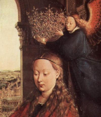 van eyck, couronnement de la vierge, rolin