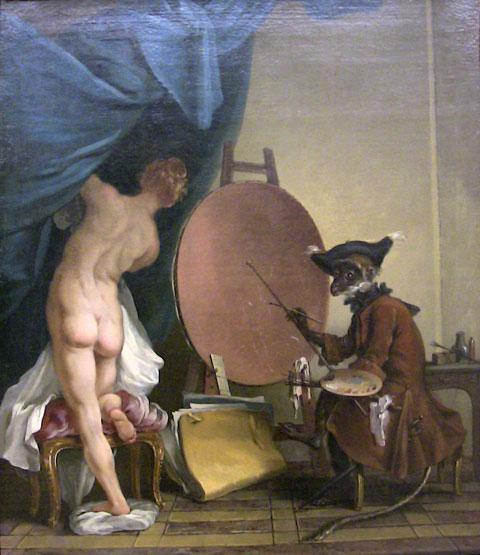 deshays de colleville,singe peintre,rouen