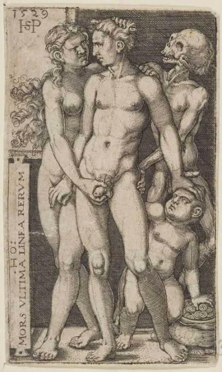 sebald beham, couple indécent, mors ultima linea rerum