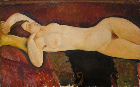 Amedeo Modigliani - Le Grand Nu - 1917 - Dépôt : Museum of Modern Art, New York - Source : Wikimedia