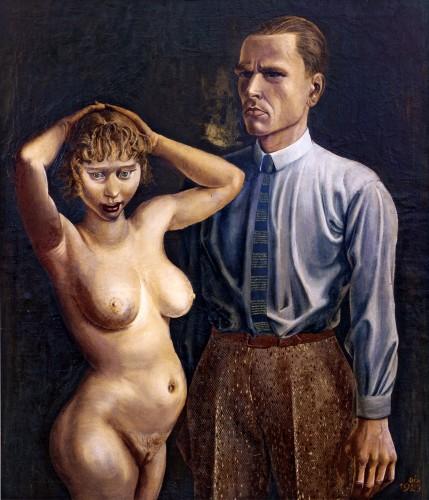 Autoportrait avec nue - Otto Dix - 1923 - Collection privée ?