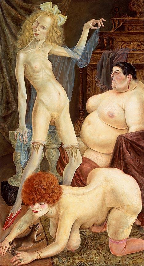 """""""Drei Weiber"""" - Otto Dix - 1926 - Kunstmuseum Stuttgart"""