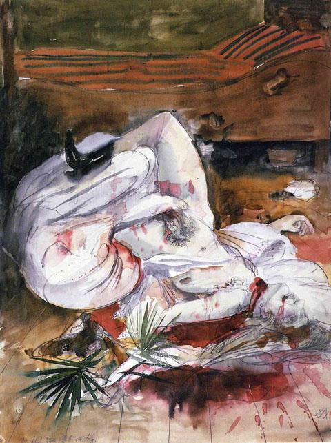"""""""Lustmord"""" (Crime sexuel) - Otto Dix - 1922 ?"""