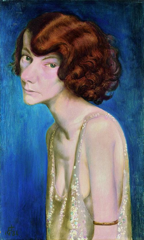 Rothaarige Frau (Damenporträt), 1931-museum gunzenhauser 1931